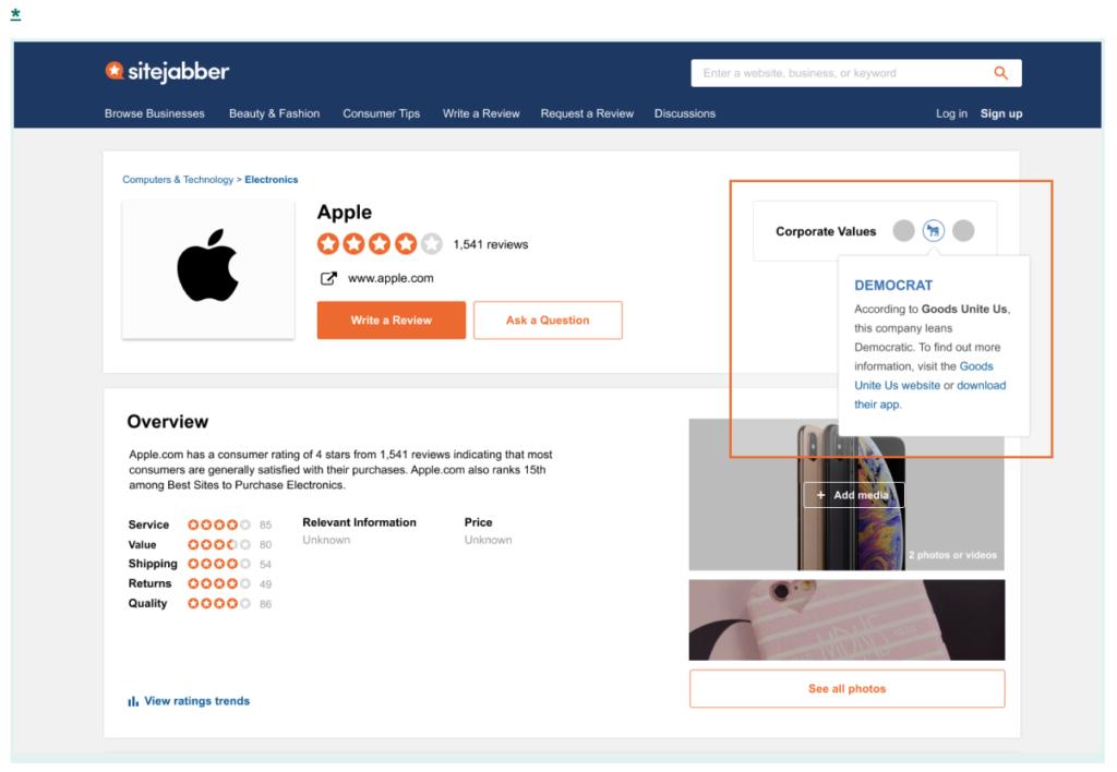 Sitejabber Goods Unite Us Apple